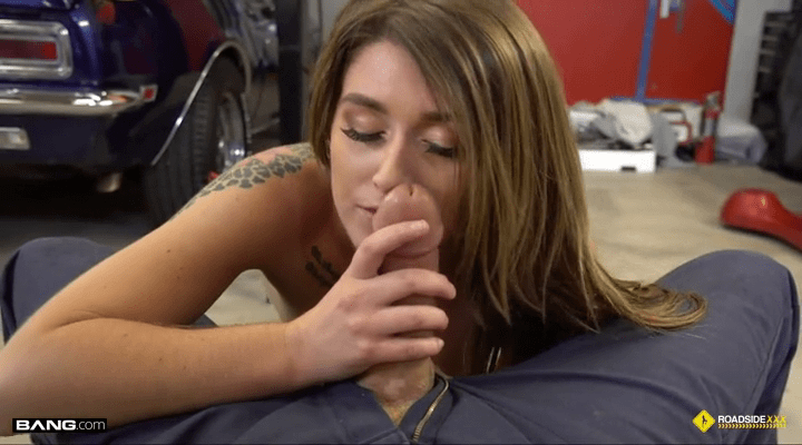 [Bang! Roadside] Riley Shea – Riley Shea Gets Her Car Bill Lowered By Being A Dirty Slut