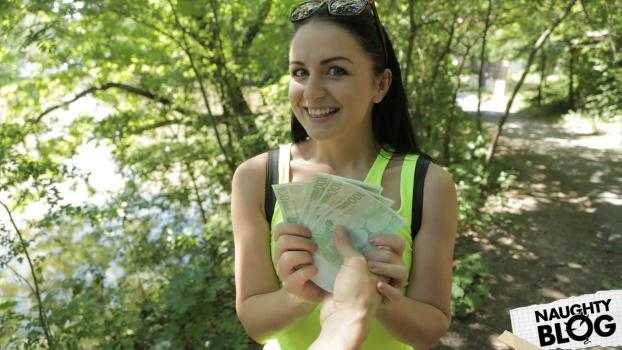 PublicAgent – Kittina Clairette – Bright young babe creampied outside